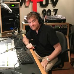 Guest DJ Brian Stack (photo by Russ Borris/WFUV)