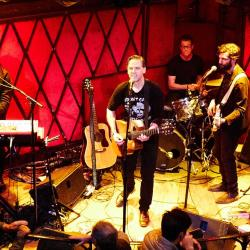 Calexico in an FUV Live performance at Rockwood Music Hall (photo by Gus Philippas)