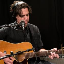Cass McCombs in Studio A (photo by Joanna LaPorte/WFUV)