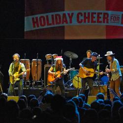 Brandi Carlile and Dawes at Holiday Cheer for FUV (Photo by Gus Philippas/WFUV)