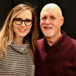 "Chely Wright and ""Sunday Supper"" host John Platt (photo by Jeremy Rainer)"