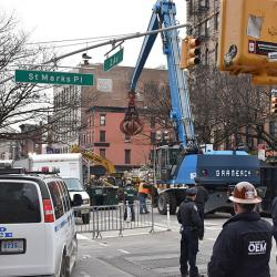 Cleanup of 2015 East Village explosion and fire in New York