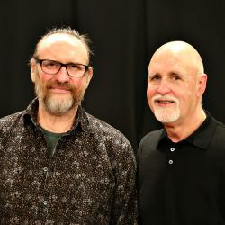 "Colin Hay with ""Sunday Supper"" host John Platt (photo by Jeremy Rainer)"