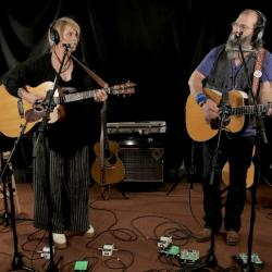 Shawn Colvin and Steve Earle in Studio A