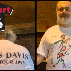 Late night host Darren DeVivo in his Miles Davis tee (photo courtesy of the author)