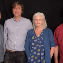 John Platt with Cowboy Junkies (photo by Joanna LaPorte/WFUV)