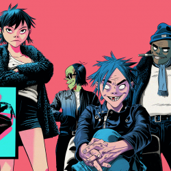 Gorillaz (illustration by Jamie Hewlett)