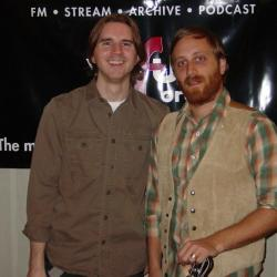 Russ Borris with Dan Auerbach (photo courtesy of WFUV)
