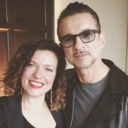 Carmel Holt with Dave Gahan of Depeche Mode