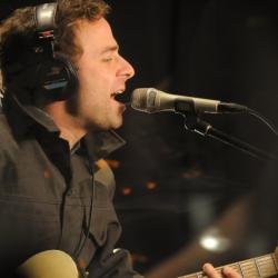 Taylor Goldsmith of Dawes in Studio A (photo by Neil Swanson/WFUV)
