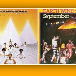 Earth Wind & Fire album and single covers (courtesy of the band at EarthWindandFire.com)