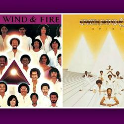 Earth, Wind & Fire album covers for 'Faces' and 'Spirit'