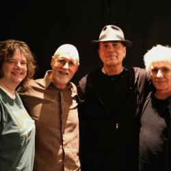 "Cheryl Prashker, ""Sunday Supper"" host John Platt, Eric Andersen, Steve Addabo  (photo by Jeremy Rainer)"