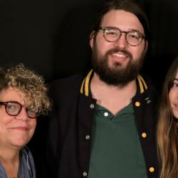 Rita Houston with Matthew E. White and Flo Morrissey at WFUV