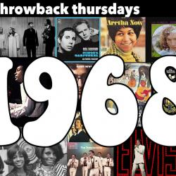 1968 (Collage compiled by Laura Fedele, WFUV)