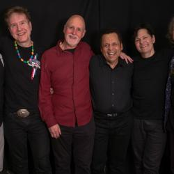 "Garland Jeffreys with bandmates and ""Sunday Supper"" host John Platt (photo by Jeremy Rainer)"