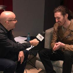 Eric Holland with Hozier (photo by Lisa Sonkin)