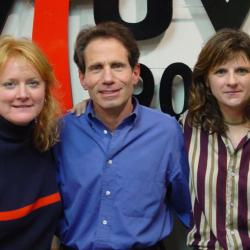 Indigo Girls with Dennis Elsas (photo by WFUV Staff)