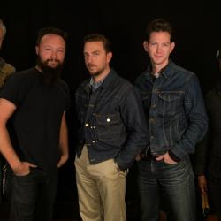 JD McPherson and band in Studio A (photo by Kristen Riffert/WFUV)