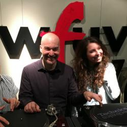 Joseph with Eric Holland at WFUV