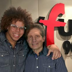 Jake Clemons with Dennis Elsas at WFUV