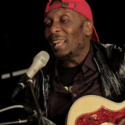 Jimmy Cliff in Studio A in 2011 (photo courtesy of WFUV)