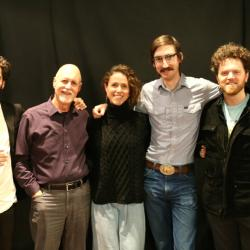 Scott Colberg, host John Platt, Joanna Wallfisch, Arthur Vint, Jesse Elder (photo by Jeremy Rainer)