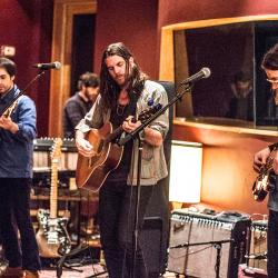 Jonathan Wilson and band at Electric Lady Studios (photo by Gus Philippas/WFUV)