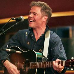 Josh Ritter at Electric Lady Studios (photo by Gus Philippas/WFUV)