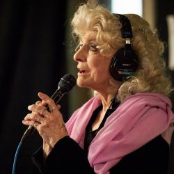 Judy Collins in Studio A (photo by Gus Philippas/WFUV)