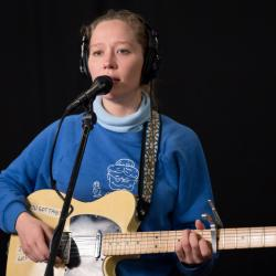 Julia Jacklin in Studio A (photo by Dan Tuozzoli/WFUV)