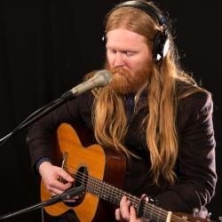 Júníus Meyvant in Studio A (photo by Brian Gallagher/WFUV)