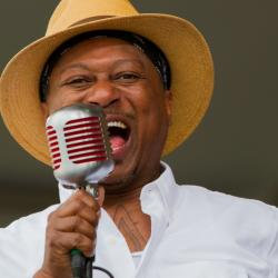 Kermit Ruffins (photo by Braden Piper, courtesy of Basin Street Records)