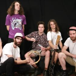 King Gizzard and the Lizard Wizard at WFUV (photo by Nick D'Agostino)