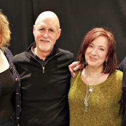 Kirsten Maxwell and Sonya Heller with host John Platt (photo by Jeremy Rainer)