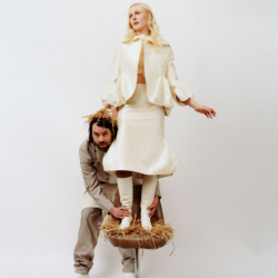 LUMP's Mike Lindsay and Laura Marling (photo by Steph Wilson, PR)