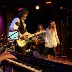 Larry Campbell, Teresa Williams and band at City Winery (photo by Gian Vassaliko/WFUV)