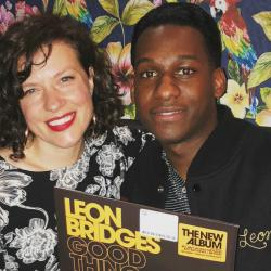 Carmel Holt with Leon Bridges (photo by Lisa Sonkin)