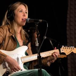 Liz Phair in Studio A (photo by Kay Kurkierewicz/WFUV)