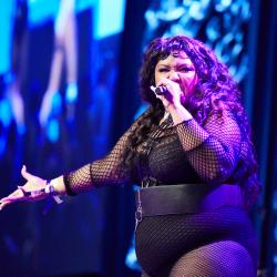Lizzo at the SXSW Radio Day Stage, powered by VuHaus.