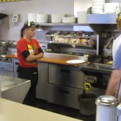 Waitresses working at Waffle House, Fort Worth, Texas