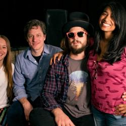 Marco Benevento and band with Alisa Ali at WFUV