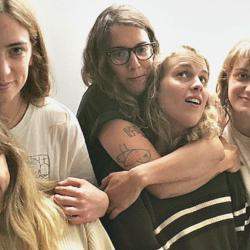 The Big Moon and Marika Hackman at WFUV in August 2017 (photo by Kara Manning)