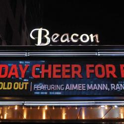 Holiday Cheer on the Beacon Theatre Marquee