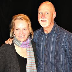 "Mary Chapin Carpenter and ""Sunday Supper"" host John Platt (photo by Jeremy Rainer)"
