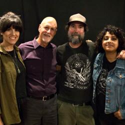 "Stephanie Macias, ""Sunday Supper"" host John Platt, Matt ""Matt the Electrician"" Sever, Seela Misra (photo by Jeremy Rainer)"