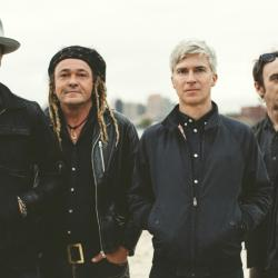 Nada Surf's (L to R) Ira Elliot, Daniel Lorca, Matthew Caws, and Doug Gillard (photo by Bernie Dechant)