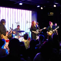 Neko Case and band at Littlefield (photo by Gus Philippas/WFUV)