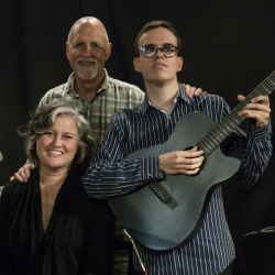 Paula Cole and Noe Socha with John Platt (WFUV staff photo)