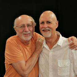 Peter Yarrow with John Platt (Photo by Jeremy Rainer/WFUV)